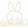 Bunny Tail and Easter Eggs Vintage and Chain Applique