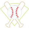 Baseball Montage Vintage and Chain Applique Machine Embroidery Design