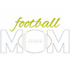 Football Mom Simple Stitch and Sketch Fill Applique Machine Embroidery Design