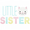 Little Sister Simple Stitch and Sketch Fill Applique Machine Embroidery Design