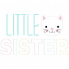 Little Sister Simple Stitch and Sketch Fill Applique