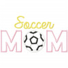 Soccer Mom Satin and Zigzag Applique