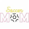 Soccer Mom Satin and Zigzag Applique Machine Embroidery Design
