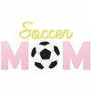 Soccer Mom Simple Stitch and Sketch Fill Applique Machine Embroidery Design