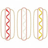 Hot Dogs Satin and Zigzag Applique