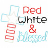 Red White and Blessed Vintage and Chain Applique