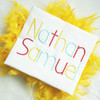 Nathan Embroidery Font