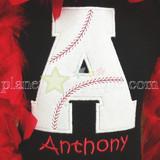 Baseball Alpha Machine Embroidery Design