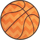 Basketball Applique Machine Embroidery Design
