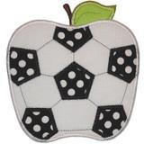 Soccer Apple Applique