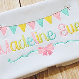 Madeline Embroidery Font