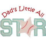 Baseball All Star Applique