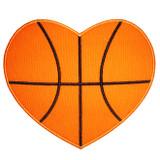 Basketball Heart Applique Machine Embroidery Design