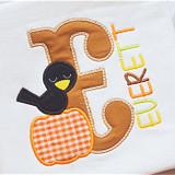 Crow Alpha Machine Embroidery Design