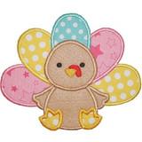 Cute Turkey Machine Embroidery Design