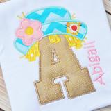 Girly Scarecrow Alpha Machine Embroidery Design