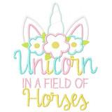 Unicorn in a Field of Horses