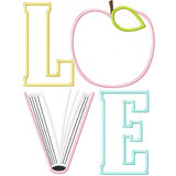 Reading Love Applique