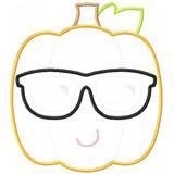 Cool Pumpkin Applique Machine Embroidery Design