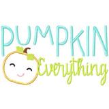Pumpkin Everything Machine Embroidery Design