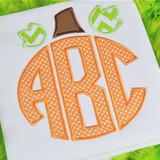 Pumpkin Monogram Alpha Machine Embroidery Design