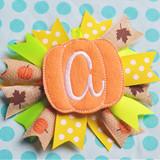 Pumpkin Hair Feltie Alpha Machine Embroidery Design
