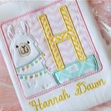 Llama Frame Alpha Machine Embroidery Design