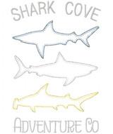 3 Sharks Blanket and Vintage Stitch Applique