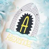 Shark Applique Alphabet Machine Embroidery Design
