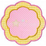 Petal Frame Applique Machine Embroidery Design