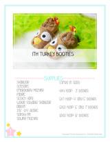 In the Hoop Turkey Baby Booties