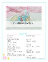 In the Hoop Mermaid Baby Booties