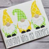Gnomes Vintage and Chain Stitch Machine Embroidery Design
