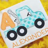 Tow Truck Alphabet Machine Embroidery Design