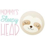 Sleepy Head Sloth Sketch Filled Stitch