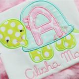 Turtle Applique Alphabet Machine Embroidery Design