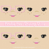 Peaches Face Styles For Darling Dolls Machine Embroidery Design