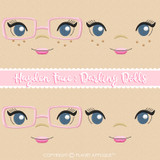Hayden Face Styles For Darling Dolls Machine Embroidery Design