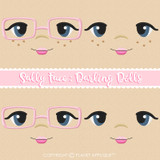 Sally Face Styles For Darling Dolls Machine Embroidery Design