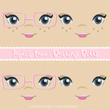 Taylor Face Styles For Darling Dolls Machine Embroidery Design