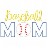 Baseball Mom Vintage and Chain Applique