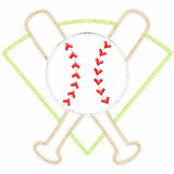 Baseball Montage Vintage and Chain Applique