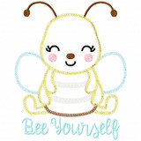Bee Yourself Vintage and Chain Applique Machine Embroidery Design