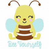 Bee Yourself Simple Stitch and Sketch Fill Applique Machine Embroidery Design