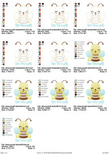 Bee Yourself Simple Stitch and Sketch Fill Applique