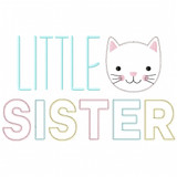 Little Sister Satin and Zigzag Applique