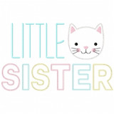 Little Sister Vintage and Chain Applique