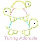 Turtley Adorable Satin and Zigzag Applique Machine Embroidery Design