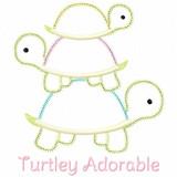 Turtley Adorable Satin and Zigzag Applique