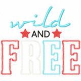 Wild and Free Vintage and Chain Applique Machine Embroidery Design